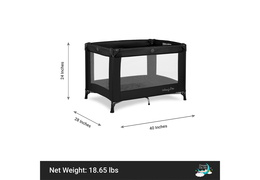 436-BLK Nest Portable Playard Dimension