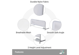 444-W Adjustable Mesh Bed Rail Double Pack Features