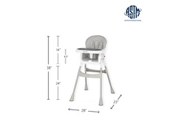 244-GRY Portable 2 in 1 Tabletalk High Chair Dimension