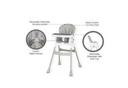 244-GRY Portable 2 in 1 Tabletalk High Chair Features