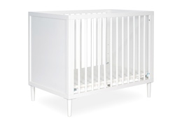 632-WHT Lucas 4 in 1 Mini Modern Crib With Rounded Spindles Silo 02