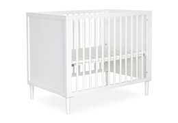 632-WHT Lucas 4 in 1 Mini Modern Crib With Rounded Spindles Silo 03