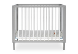 632-PGW Lucas 4 in 1 Mini Modern Crib With Rounded Spindles Silo 01