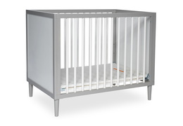 632-PGW Lucas 4 in 1 Mini Modern Crib With Rounded Spindles Silo 02
