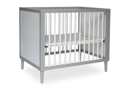 632-PGW Lucas 4 in 1 Mini Modern Crib With Rounded Spindles Silo 03