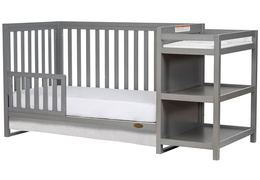661-SGY Milo Toddler Bed and Changing Table Silo