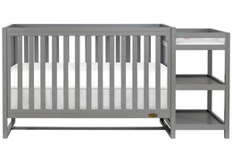 661-SGY Milo 5-in-1 Convertible Crib and Changing Table Silo 01