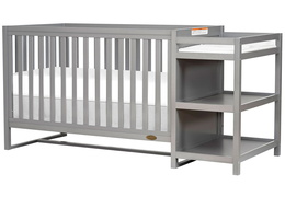 661-SGY Milo 5-in-1 Convertible Crib and Changing Table Silo 02