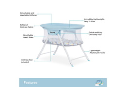 4469-BB Poppy Traveler Portable Bassinet Features
