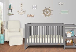 661-SGY Milo 5-in-1 Convertible Crib and Changing Table Room Shot 02