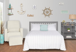 661-SGY Milo Full Size Bed and Changing Table Room Shot 02