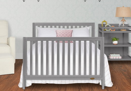 661-SGY Milo Full Size Bed and Changing Table Room Shot 01A