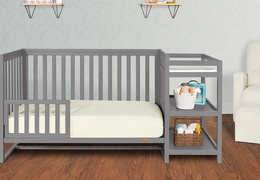 661-SGY Milo Toddler Bed and Changing Table Room Shot 01