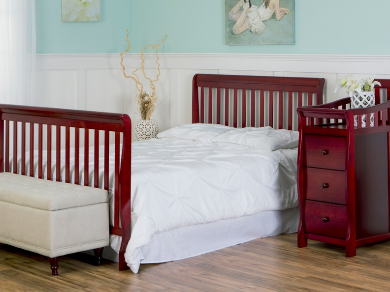 Cherry Brody 5 in 1 Full Bed with Footboard