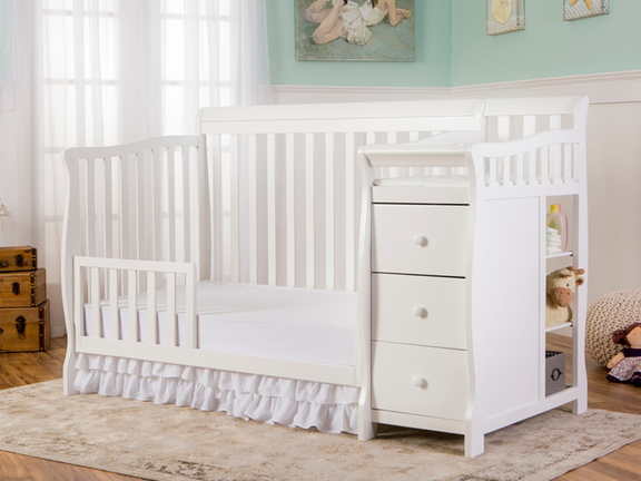 White Brody 5 in 1 Toddler Bed