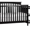 Black Chloe 5 in 1 Convertible Crib with Changer Silo Side 1