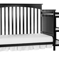 Black Chloe Day Bed with Changer Silo