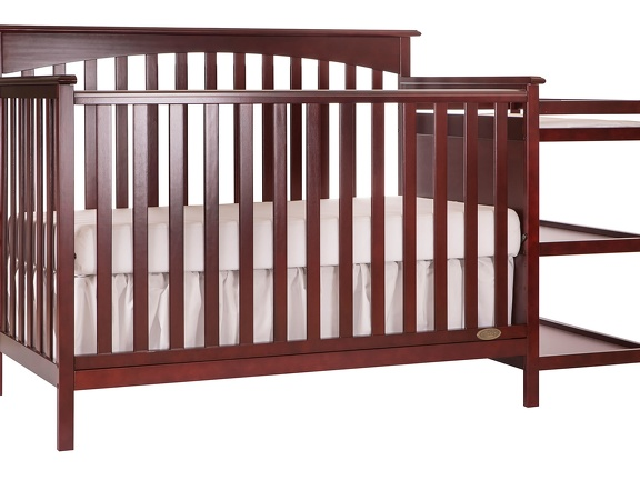 665 C Cherry Chloe 5 in 1 Convertible Crib With Changer Silo Side 2