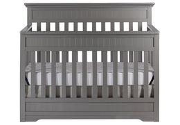 Storm Grey Chesapeake 5-In-1 Convertible Crib Front Silo