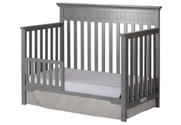 Storm Grey Chesapeake 5-In-1 Convertible Toddler  Bed Silo