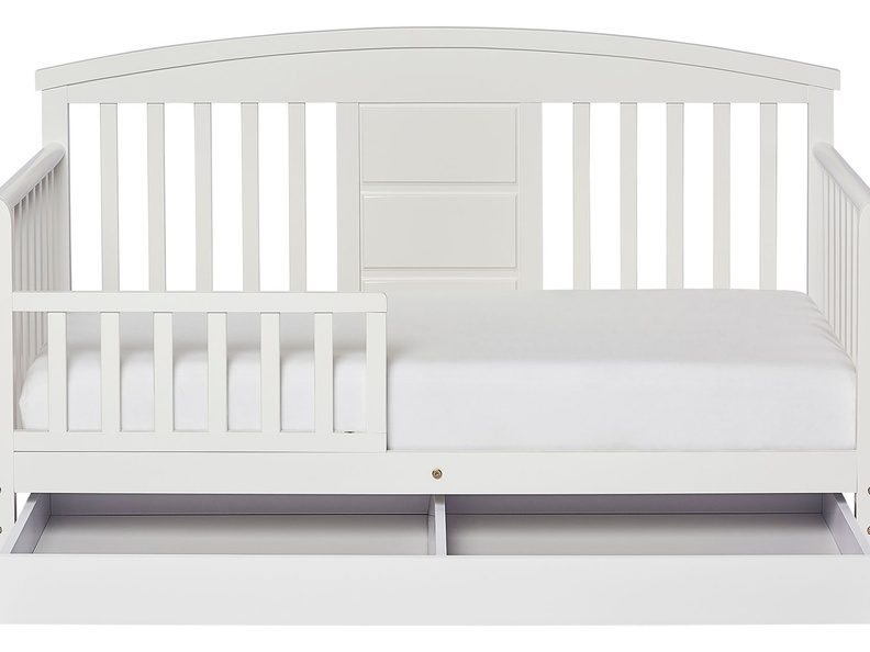 White Deluxe Toddler Bed Silo