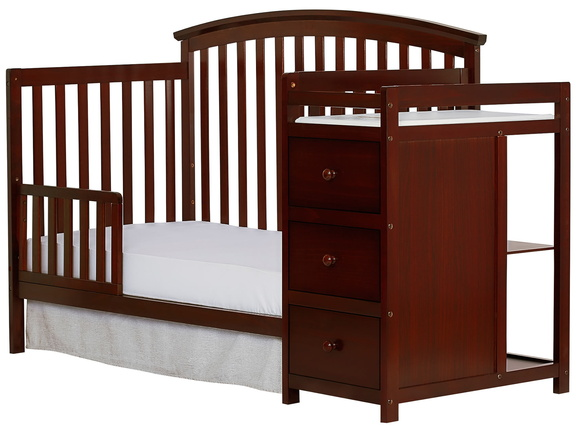 Espresso Niko Toddler Bed With Changer Silo