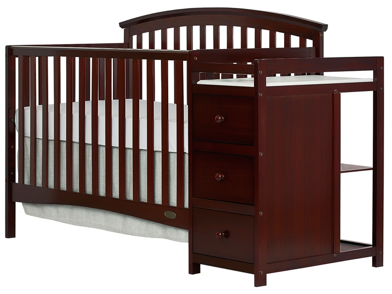 Espresso Niko 5 in 1 Convertible Crib With Changer Silo