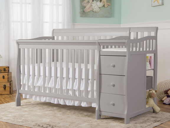 Pebble Grey Brody 5 in 1 Convertible Crib RS