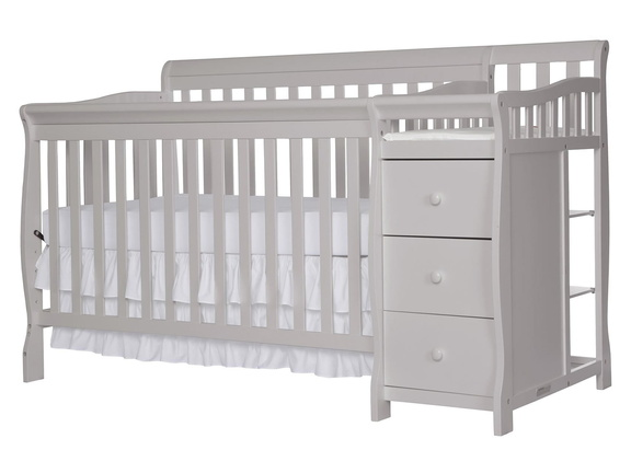 Pebble Grey Brody 5 in 1 Convertible Crib Silo Side