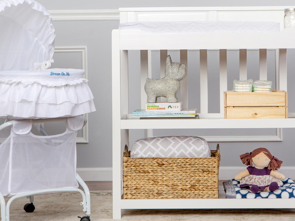 White Zoey Changing Table