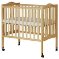 Natural 2 in 1 Lightweight Folding Portable Crib Silo Side