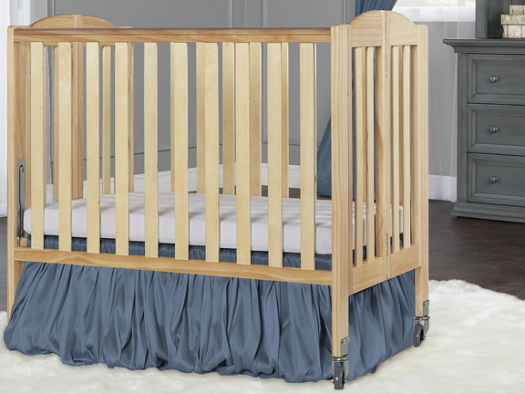 Natural 2 in 1 Folding, Birch Portable Crib RS