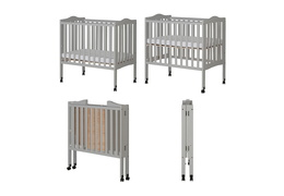 Pebble Grey - 2 in 1 Lightweight Folding Portable Crib Collage