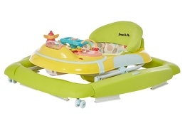 Green/Yellow 2 in 1 Crossover Musical Walker and Rocker2