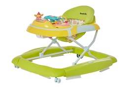 Green/Yellow 2 in 1 Crossover Musical Walker and Rocker3