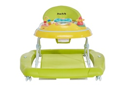 Green/Yellow 2 in 1 Crossover Musical Walker and Rocker6