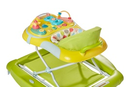 Green/Yellow 2 in 1 Crossover Musical Walker and Rocker9