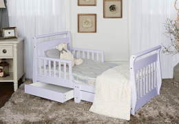 Lavender Ice Sleigh Toddler Bed With Storage Drawer RS1