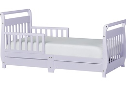 Lavender Ice Sleigh Toddler Bed With Storage Drawer Silo1