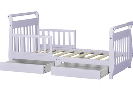 Lavender Ice Sleigh Toddler Bed With Storage Drawer Silo6