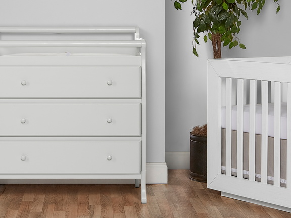 Liberty 3 Drawer Changing Table Room Shot - Mystic Grey