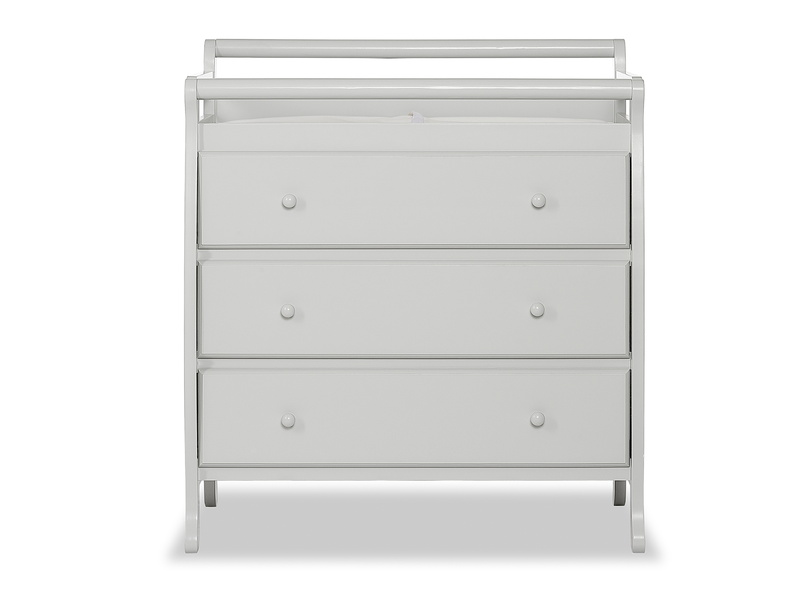 Liberty 3 Drawer Changing Table Silo Front - Mystic Grey