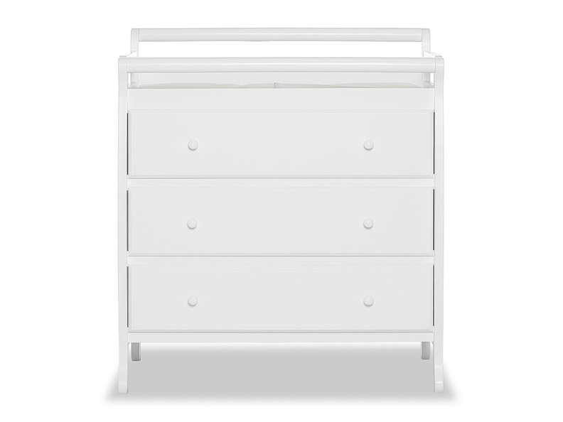 Liberty 3 Drawer Changing Table Silo Front - White