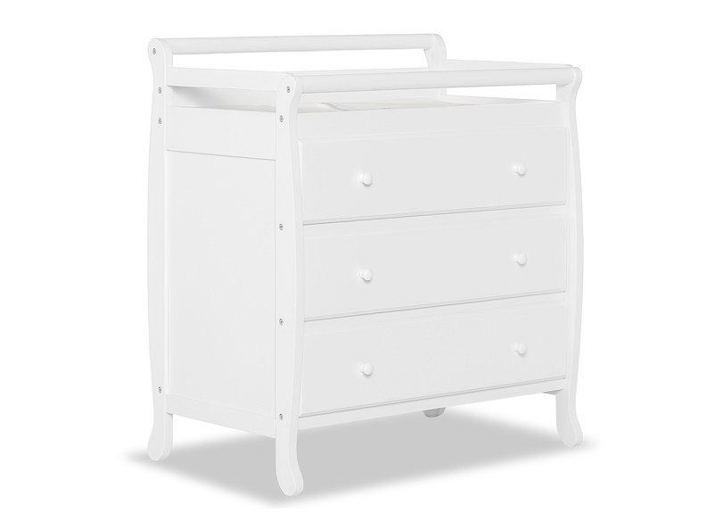 Liberty 3 Drawer Changing Table Silo Side - White