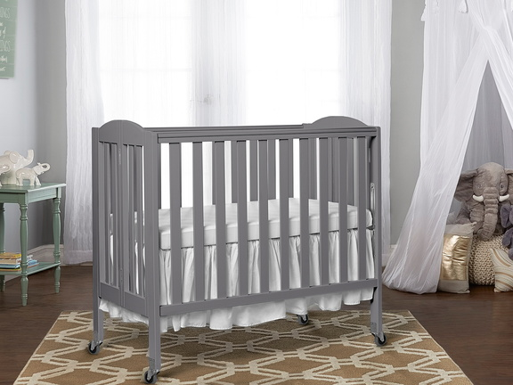 Steel Grey 3 in 1 Folding Portable Crib RmScene