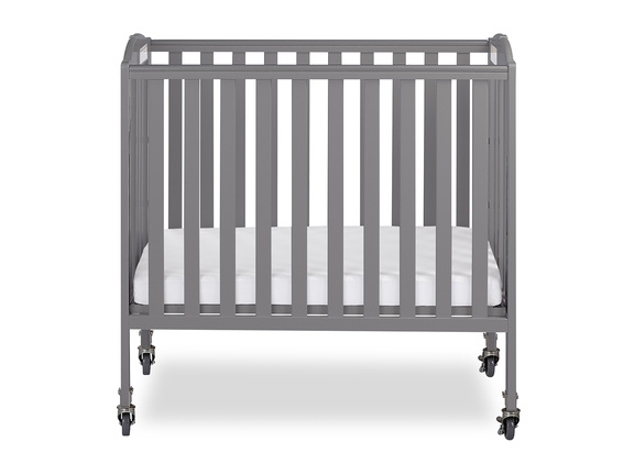 Steel Grey 3 in 1 Folding Portable Crib 01 Silo