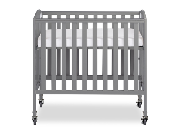Steel Grey 3 in 1 Folding Portable Crib 03 Silo