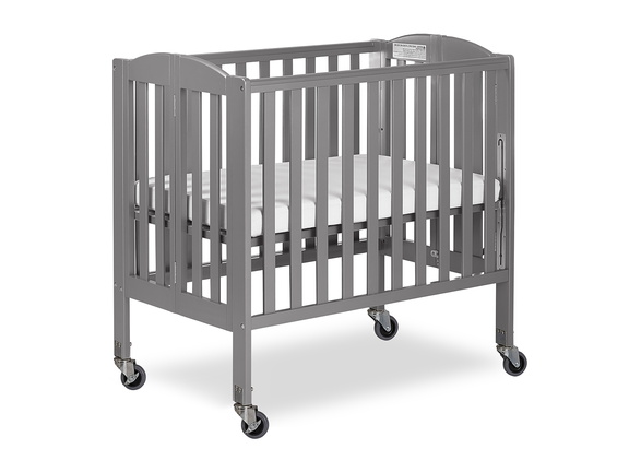 Steel Grey 3 in 1 Folding Portable Crib 05 Silo