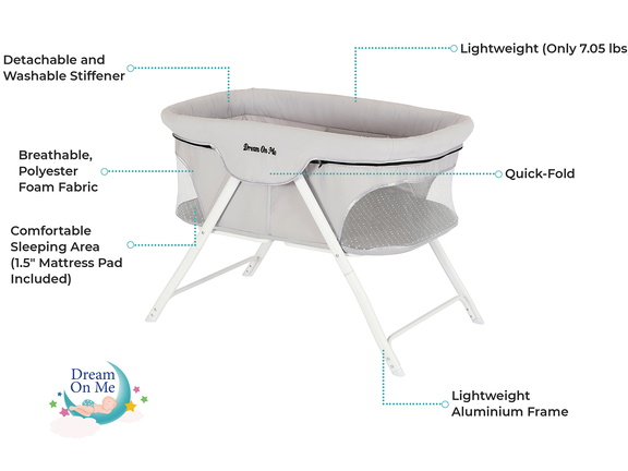 Traveler Portable Bassinet Features